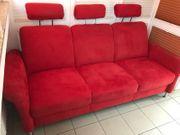 Alcantara 3er Sofa Ferrari rot