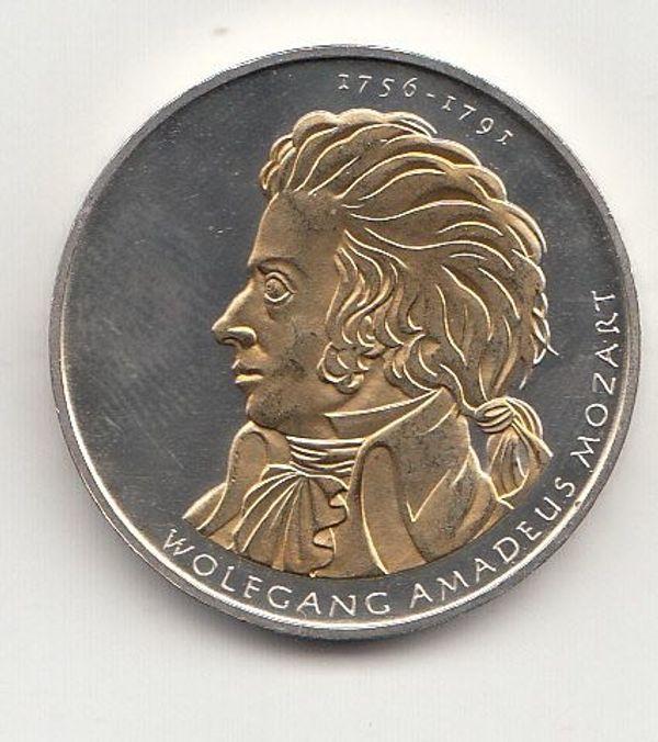 10 Euro Gedenkmünze 2006 Wolfgang Amadeus Mozart Teilvergoldet