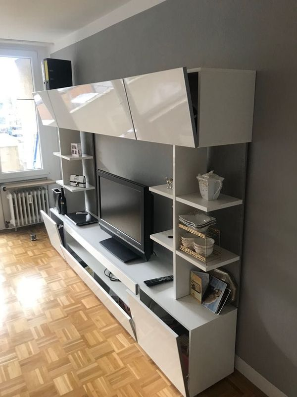 Moderne, neuwertige Wohnwand in Stein - Wohnzimmerschränke ...