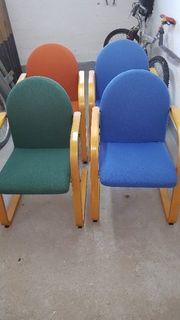 4 Designer Stühle top Zustand