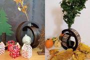 Vase Dekovase Holzvase Designvase aus