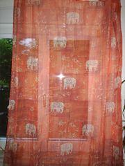 2 Schals Vorhang Elefant