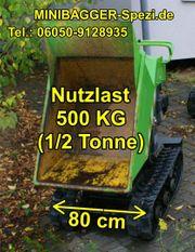 Kettendumper Motorschubkarre Minikipper mieten MInibagger-Spezi