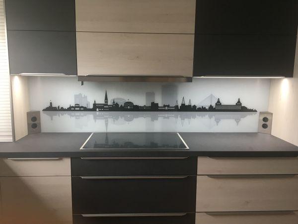 Küchenrückwand / Spritzschutz aus Glas bedruckt in Schneverdingen ...