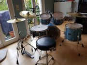 Schlagzeug türkis blau