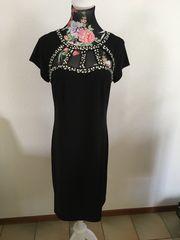 Edles sexy Schwarzes Glamour Kleid