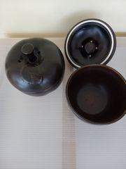 2 Bratapfelform Katengeschirr Dose Keksdose