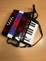 kleines elektronisches Akkordeon Ziehharmonika