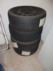 4 Michelin-Reifen auf Stahlfelgen