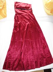 wunderschönes bordeauxfarbenes Abendkleid Größe 40