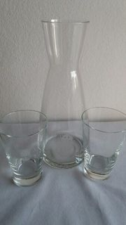 Karaffe mit 2 Gläser ANGEBOT