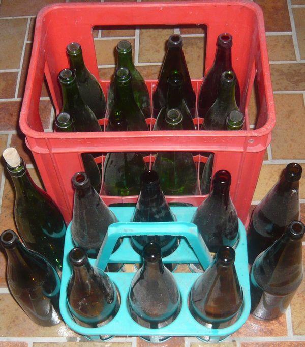22 Glasflaschen Apfelsaftflaschen » Essen und Trinken