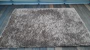 Hochflor Teppich Braun 140X200 cm
