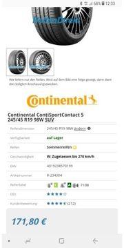 Contisportcontact 5 245 45 r19