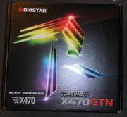 Biostar X470GTN ITX Mainboard Sockel