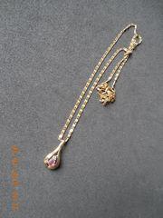 Zarte Goldkette mit Rubin - Diamantanhänger