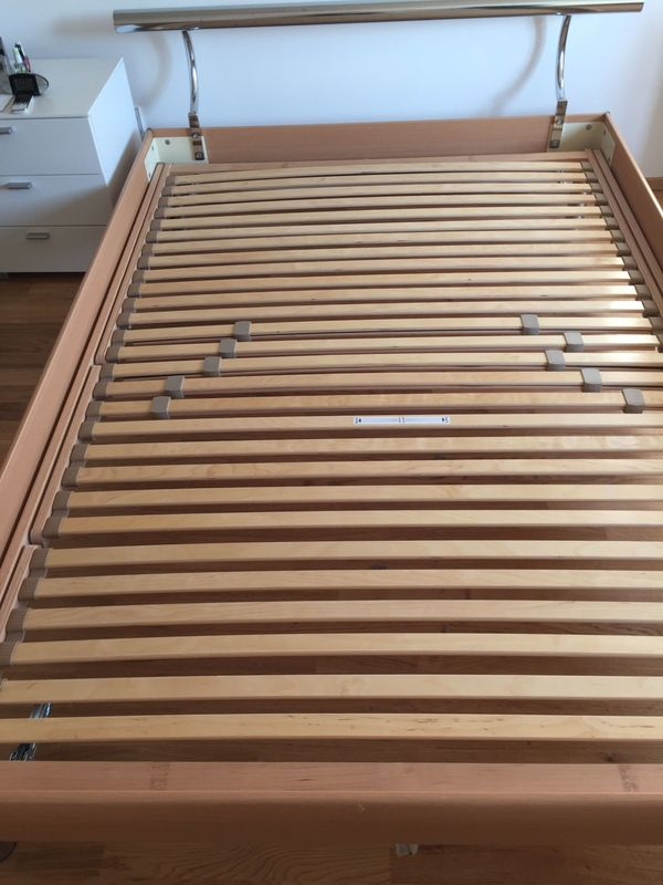 Hasena Bett 140 x 200 cm inkl. 7-Zonen Lattenrost (Kopf- und Fußteil ...
