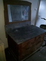 Antik Waschtisch Kommode mit Marmorplatte