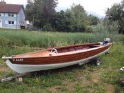 Rarität Mahagoni Bade-Fischerboot in Top