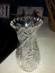 2 Bleikristal Vasen