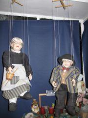 Marionetten Oma und Opa Porzellan