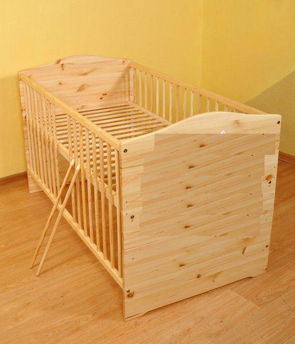 Kinderbett - Juniorbett umbaubar 120x60 + ökologisch Klarlack in ...