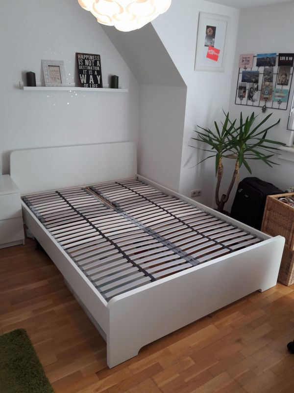 Ikea Askvoll Bett 140X200 Cm Inkl. Lattenrost - Top Zustand In