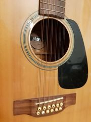 12saitige Westerngitarre mit Tonabnehmer