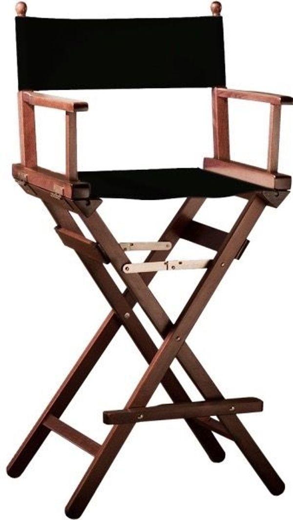 Hoher regiestuhl schminkstuhl klappbarer make up stuhl turnierstuhl mit namen od - Stuhl mit namen ...