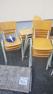 Stühle 60er Jahre Holz Metall
