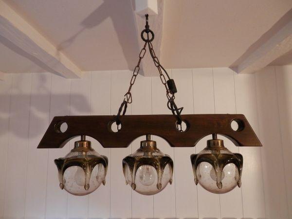 Kronleuchter Hängelampe ~ Antike unikat lampe leuchter 3 flammig deckenlampe hängelampe in
