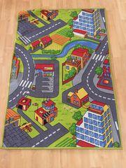 Straßen- Spielteppich 80x118 für Kinder