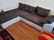 Sofa grau-weiß