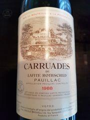 1988 Chateau Lafite Rothschild Carruades