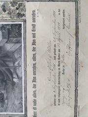 Originale Urkunden und Grabsteine