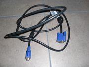 VGA Kabel Stromkabel Netzwerkkabel LAN