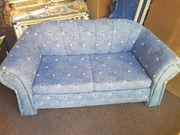 Schlaf Sofa 2 Sitzer blau