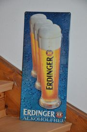 Blechschild Erdinger alkoholfrei für Partykeller