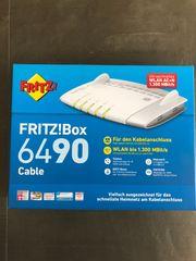 Fritz Box 6490 Kabel neuwertig
