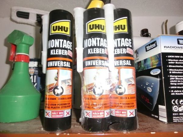Montagekleber Uhu 47805 Universal 440g Kraftkleber 3 Kartuschen Neu