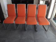 4 Stk sessel stuhl orange
