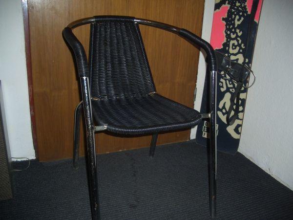 Vintage Stuhl Metall  Chrom Mit