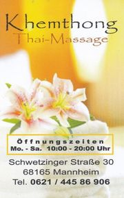 Khemthong Thai-Massage in Mannheim