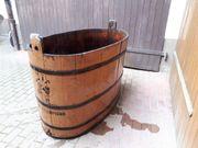 Traubenbütte Holzbütte Wein Sauna Wasser