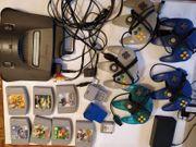 Nintendo N64 Konsole mit Spielen