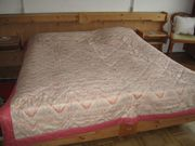 Bettübewurf rosa