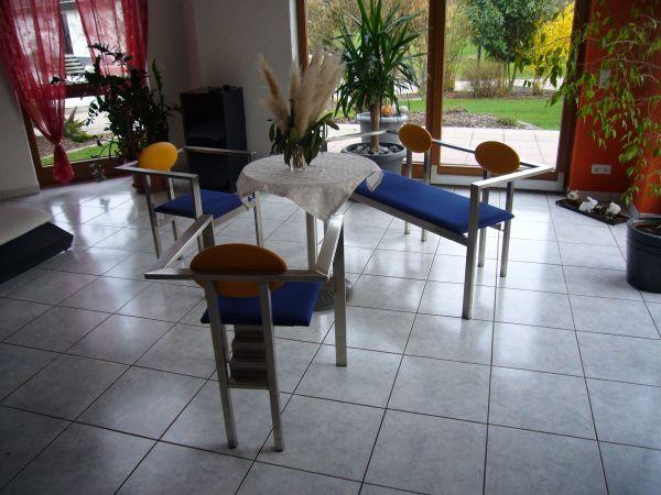 Möbel Achern designer edelstahl möbel 1 sitzbank und 2 stühle in achern