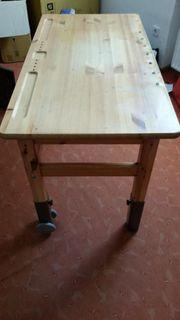 Schreibtisch Flexa Massivholz höhenverstellbare Füße