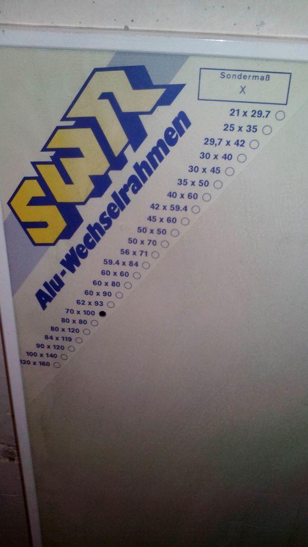 Rahmen Bilderrahmen Alu-Wechselrahmen in München - Sonstige ...