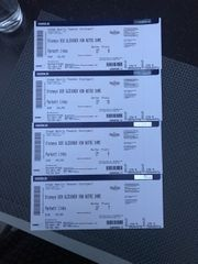 4 Tickets für